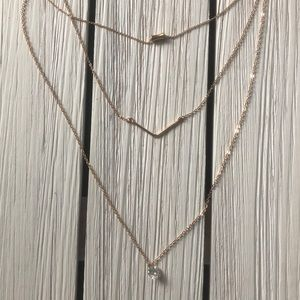 Jewelry - MULTI-LAYER NECKLACE - Gold - Never Worn